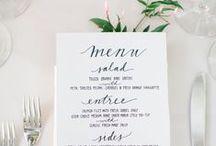 wedding + event menus