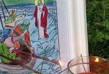 +Catholic Saint Coloring Pages+ / Catholic saint coloring pages for kids:  Our Lady, Saint Joseph, Saint Andrew, Saint Patrick, and more.