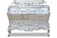 Shimmer and Shine / Baroque style furniture in Silver Leaf  French Ornate Modern Baroque & Rococo Furniture www.fabulousandbaroque.com