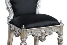 Black and Shimmers / French Ornate Modern Baroque & Rococo Furniture in Silver and Black  www.fabulousandbaroque.com