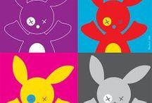 Mili Boom - Art Print / illustration, cute, kawaï, enfants, kids, naissance, lapin, rabbit, vectoriel, art, color, humor, couleur, humour, presse, jeunesse, livre, edition, freelance, paris, France, art, print, artist