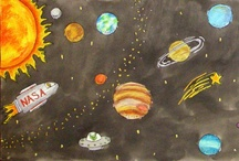 Outerspace/Sci-Fi - Art Ideas / by scartteacher