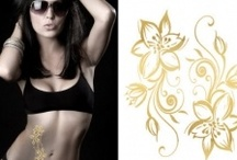 Gold, Silver, Foil & Metallic Temporary Tattoos / Gold, silver, foil & metallic temporary tattoos
