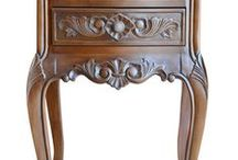 au Naturale / This is a collection of Fabulous & Baroque furniture with a natural stain!