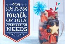 RED, WHITE + BLUE / All things Patriotic: 4th of July + Memorial Day.  Visit our 'GRILL MASTER' Board for grilling recipes!