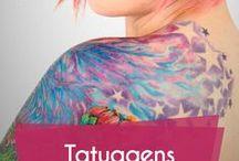 Tatuagens / Dicas e inspirações para tatuagens #tatuagem #tattoo #bodyart #ink #tatuagens #tudoela