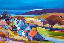 Pam Carter Art, Scotland / Pam Carter was born in Tanzania, but went to Scotland when she was thirteen. She obtained a degree at the Glasgow School of Art, and has lectured at schools and colleges for many years.