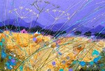 Fields of joy, art of Deborah Phillips / Scottish artist who brings the outdoors indoors through her delightful art.