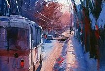 Watercolors by Eugen Chisnicean / My idea of watercolor perfection!