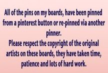 Disclaimer / All pins on these boards are © of the original artist. I do not own the copyright to anything but my own artwork.