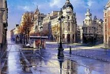 Ricardo Sanz Art / Flamenco, Spain, beauty,passion and emotion. It's all in the wonderful paintings of Ricardo Sanz