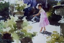 John Yardley watercolours / Born in Yorkshire, England and with no formal training, John Yardley is one of the most expressive watercolour artists around today.