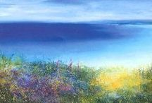 Cornish artist Amanda Hoskin / She captures the light and beauty of the Cornish landscape so well.