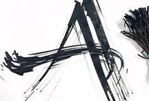 calligraphy-experimental / experimentelle kalligrafie, expressive kalligrafie