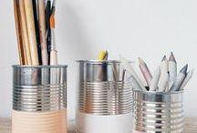 Alkotórész / Craft room interiors and organization ideas.