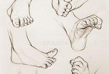 Drawing feet ref