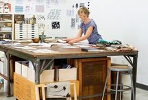 Artist & Design Studio Spaces / Someday I will have the perfect space in which to create. In the meantime, I can dream of how to set it up. Visit my blog at victoriabdesign.com for more inspiration on color, pattern, and design! Visit victoriabeerman for more artwork!