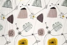 Lucienne Day Designs / Désirée Lucienne Lisbeth Dulcie Day RDI was a British textile designer. Inspired by abstract art, she pioneered the use of bright, optimistic, abstract patterns in post-war England. (excerpted from Wikipedia) Visit my blog at victoriabdesign.com for more inspiration on color, pattern, and design!