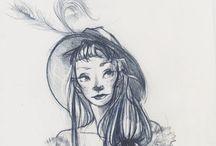 girl sketchs / By Cennet Kapkac  charcter desing.illustration  https://instagram.com/cennetkapkac/