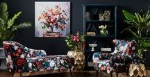 Floral Home Decor / Don't be a wallflower this season.  Create a floral sensation with your home styling!
