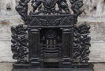 Antique Fireplace Accessories / Original restored antique fireside accessories for sale