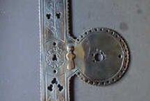 Antique Door Finger Plates / Original reclaimed antique door finger plates for sale online