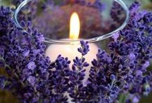 Lavender and Candles / Treat yourself to this  calming, sweet, floral and soft aroma .