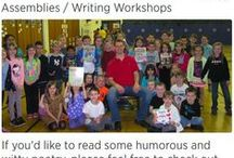 Darren Sardelli, poet and children's book author / His dynamic poetry assemblies combine poetry, comedy, and interaction, and not only make kids laugh but also see the fun side of poetry and inspire them to write their own poems. To book him, just go to www.laughalotpoetry.com