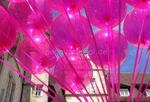 """""""Pretty in Pink"""" / Pink !!  Luftballons und Hochzeits-Dekorationen in der Sommerfarbe pink - rosa - rose´- wild berry ... !"""