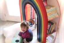 """Детская комната / Организация пространства в детской комнате. Многоместные кровати. Компактное хранение вещей. Полки, навесные карманы. Подушки, коврики, пледы. Мобили и другие украшения интерьера. См. также мою доску """"Детские домики"""""""