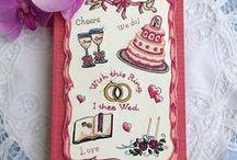 ウエディングアイテム / All-in-one  marriage box. This contains  Groom&Broom Brooches,Ring pillow ,,marriage certificate !