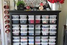 organizing and storage / by Kathi Hoffman