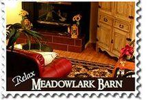 Meadowlark Barn @ Arcadian Getaways / www.AaronsGate.com  European country barn with silo and bedroom loft.  hot tub and sauna.  #honeymoon #cabin #oklahomabedandbreakfast