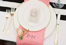 Table Setting / We love love love table settings, it's a hugely underrated part of any wedding or event, here are lots of inspiring photos