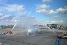 First Flights Amsterdam Airport Schiphol / Inaugural flights at Amsterdam Airport Schiphol