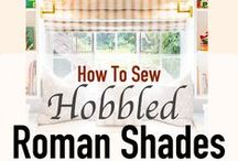 How To Make Roman Shades / Roman shade patterns and instructions. Learn how to make roman shades at http://SimpleSewingProjects.com