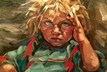 Portraits in Paint / Oils, acrylics, mixed media portraits that inspire me