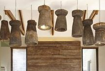 Salvage Building Materials: Reclaimed Wood Light Fixtures / We're all about using salvage building materials to create beautiful new woodworking projects. These reclaimed wood light fixtures add a rustic/farmhouse touch to your home.