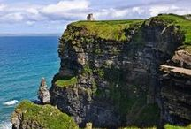 Cliffs of Moher / Standing 214m (702 feet) at their highest point they stretch for 8 kilometres (5 miles) along the Atlantic coast of County Clare in the west of Ireland. Lorraine is excited to visit them re Bespoke work in June.