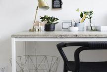 Espace de Travail / Espaces de travail à la maison minimaliste