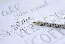 Lettering / Handletterings von unikatis