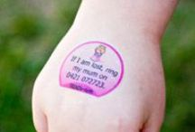 Pre-printed Tattoos / Temporary tattoo products to assist people with every day health and safety issues.
