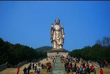 Wuxi Lingshan Grand Buddha Statue / A series of pictures about the Giant Buddha Statues in Lingshan, Wuxi, Jiangsu province, more information to read -  http://mildchina.com/wuxi-attractions/lingshan-grand-buddha.html
