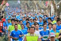 Hangzhou Marathon Pictures 2014 / The Hangzhou International Marathon is an annual marathon race held in November in Hangzhou, China. It has been recognized by AIMS since 2007. It features the travel highlights of Hangzhou, West Lake and Qiantang River in 2014.
