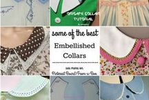 Embellished Collars / Round Collar, Peter Pan Collars, Lace Collars, Embroidery Collars, Double Collars, Collars with Trim, Collars with Buttons, and even an Origami Collar... ready to add to an Heirloom style dress or shirt or suit.  So much Creative Sewing Inspiration.