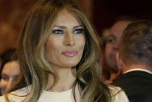 Melania Trump / I am so in love with the first lady ❤ She's a goddess and seems so lovely.