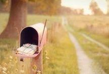 Letters / Letters, snail Mail, postcards, handwrite letters, envelopes, mailbox,