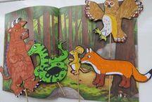 Giochiamo con i libri in inglese / Un board che raccoglie giochi e attivita' creative legate ai personaggi dei libri in inglese che abbiamo letto ai nostri bambini.
