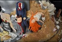 Dismal Wedding Cake Inspired by Dismaland / This is an Iced Art cake, created using just my sugarcraft skills and no moulds. I was inspired by my visit to Dismaland Bemusement Park in Weston-super-Mare - my home town - is the world's biggest collection of art in a theme park. It's the brain child of world renowned Banksy. This piece of edible art allowed me to express my views in the medium I know best - sugarcraft.