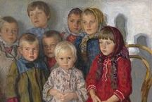 Nikolay Bogdanov-Belsky / Nikolai Belsky (1868-1945), a Russian painter, is one of the favorites at Ackerman's Fine Art. Born in the village of Shitiki in Smolensk Governorate in 1868. In 1883 Bogdanov-Belsky attended the Semyon Rachinsky fine art school. Also during that year he studied icon-painting at Troitse-Sergiyeva Lavra. Bogdanov-Belsky studied modern painting at the Moscow School of Painting, Sculpture and Architecture.